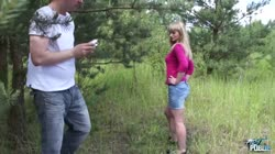 MyFirstPublic - Public fucking of very boring young blonde teenager