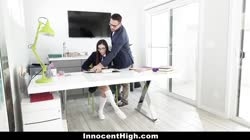 InnocentHigh - Rebel School Girl Emily WIllis Gets Spanked By Tutor