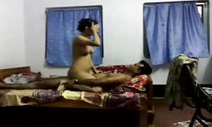 Desi college student drilling bio lecturer in tuition