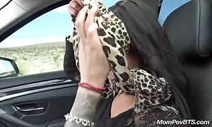 Public flashing and rough blowjob on nature walk