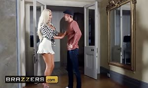 BRAZZERS - big-chested blond Nicolette Shea cheats on husband with his brother