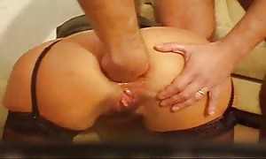 woman ass sex fist-fucked and bottled - home made hardcore