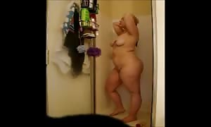 Cheating overweight Gina shoots a load in take a shower - negrofloripa