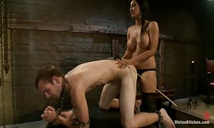 goddess and her male servant to screw