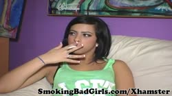 Teen smokes cigarette and will not shut up